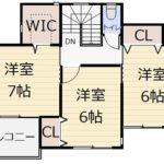 4号地 2F〈モデルハウス〉(間取)